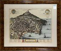 Map After Pierre Mortier Catane ou Catania Ville de