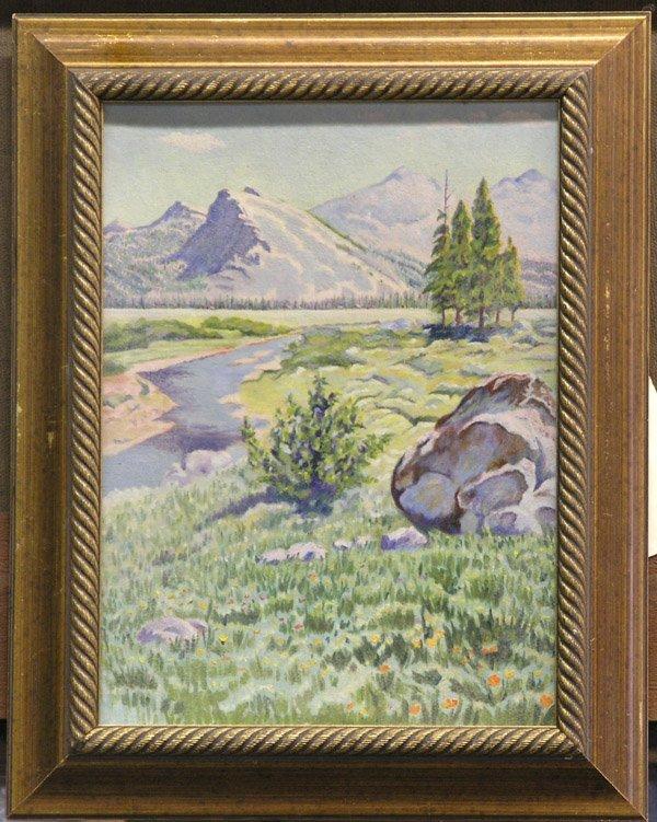 1: Painting, Mountain Creek Landscape