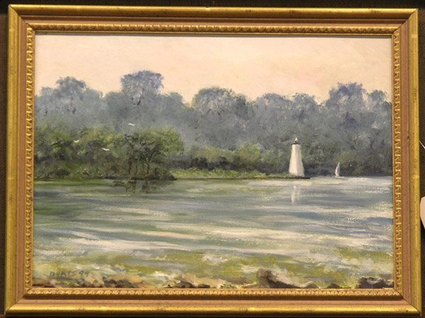 5: Boats on a Bay Painting, Deats