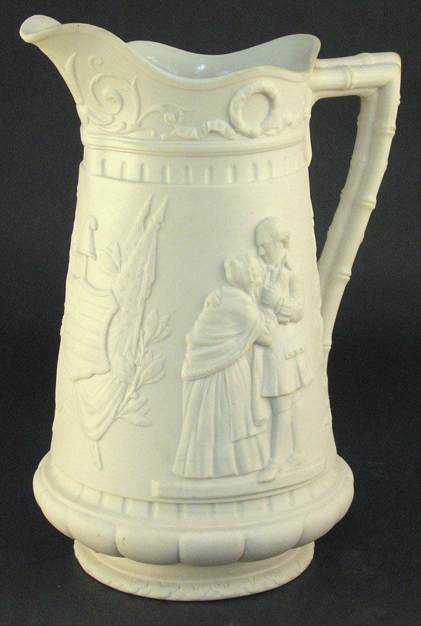 8: Parian ware George Washington pitcher