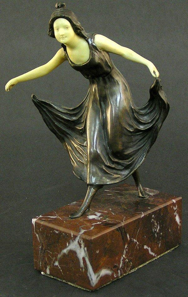 10: Viennese Bronze and Ivorine Figure