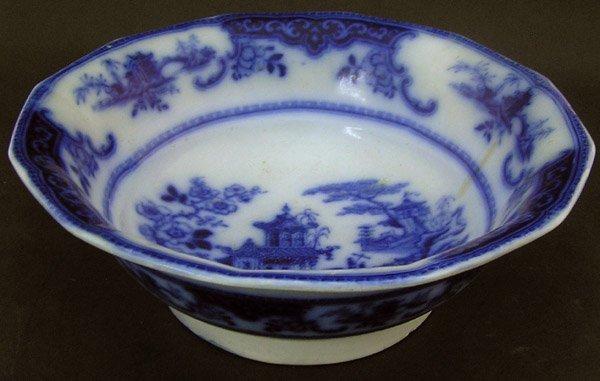 15: Flow Blue Peking Bowl