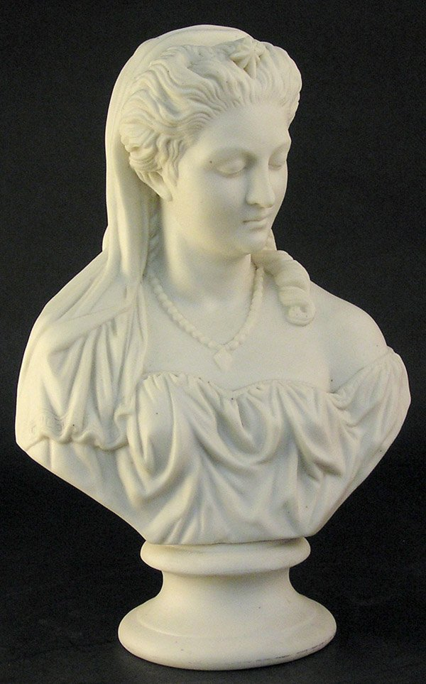 16: Parian ware bust of a woman