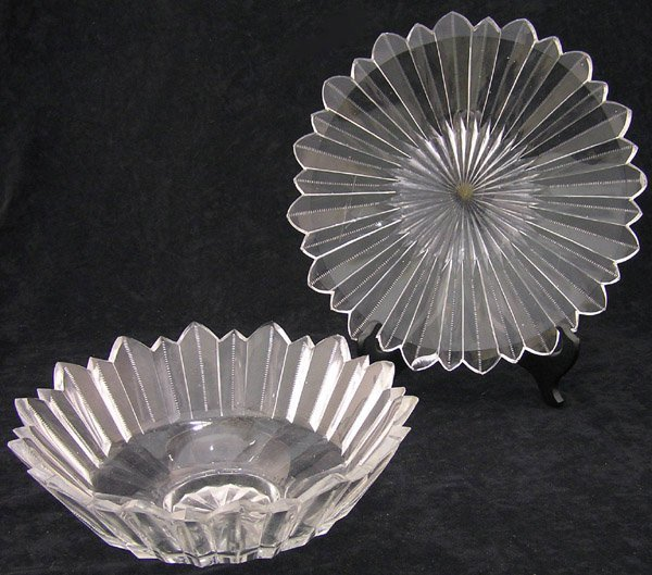 18: Victorian Cut Crystal Bowl and Stand