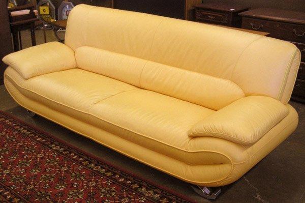 138: Modern yellow leather set