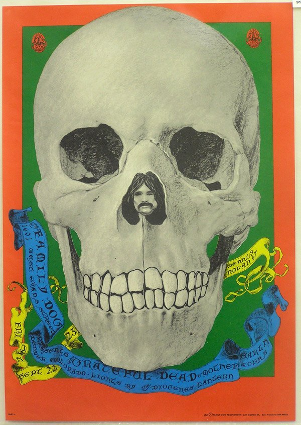 2009: pyschedelic rock poster Grateful Dead