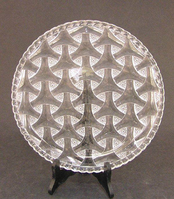 2125: Hawkes cut glass cake plate