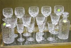 2131 Waterford crystal stemware decanters