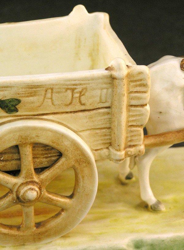 2546: Royal Dux Porcelain donkey cart - 3