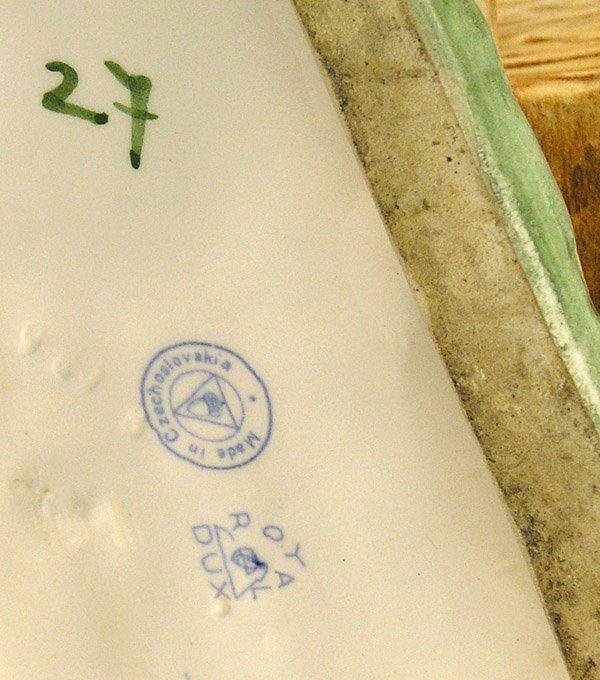 2546: Royal Dux Porcelain donkey cart - 4