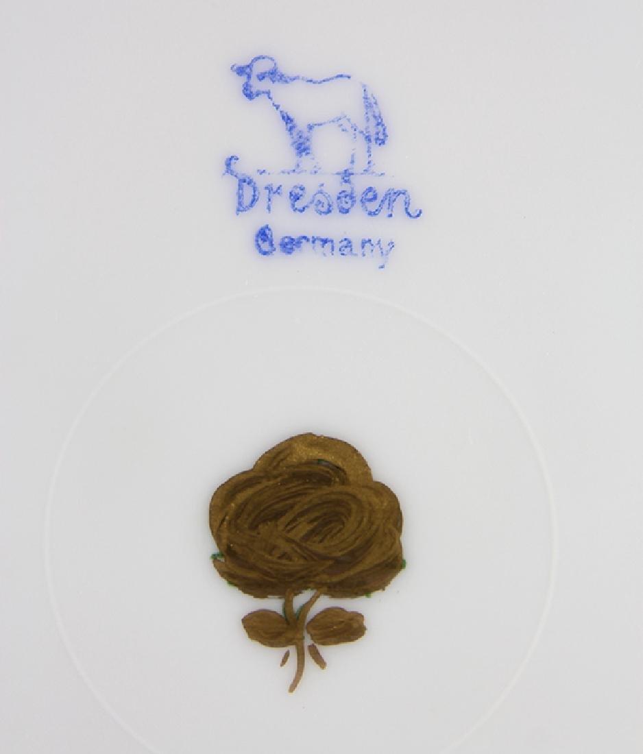 (lot of 12) Dresden parcel gilt service plates, having - 3