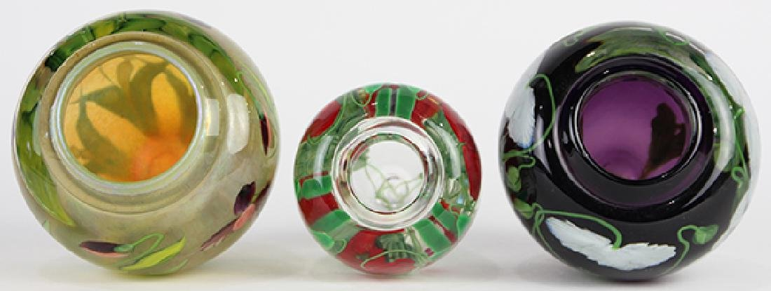 (lot of 3) Lundberg Studios art glass vessel group - 5