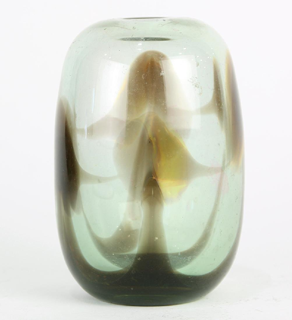 Early Dominick Labino glass vessel, 1970, the ovoid - 3