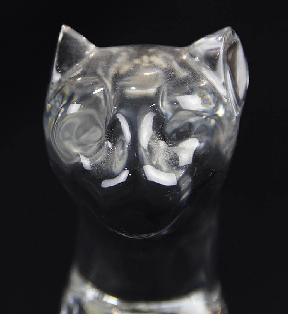 """Baccarat crystal panther, 6""""h x 3""""w x 2""""d - 5"""