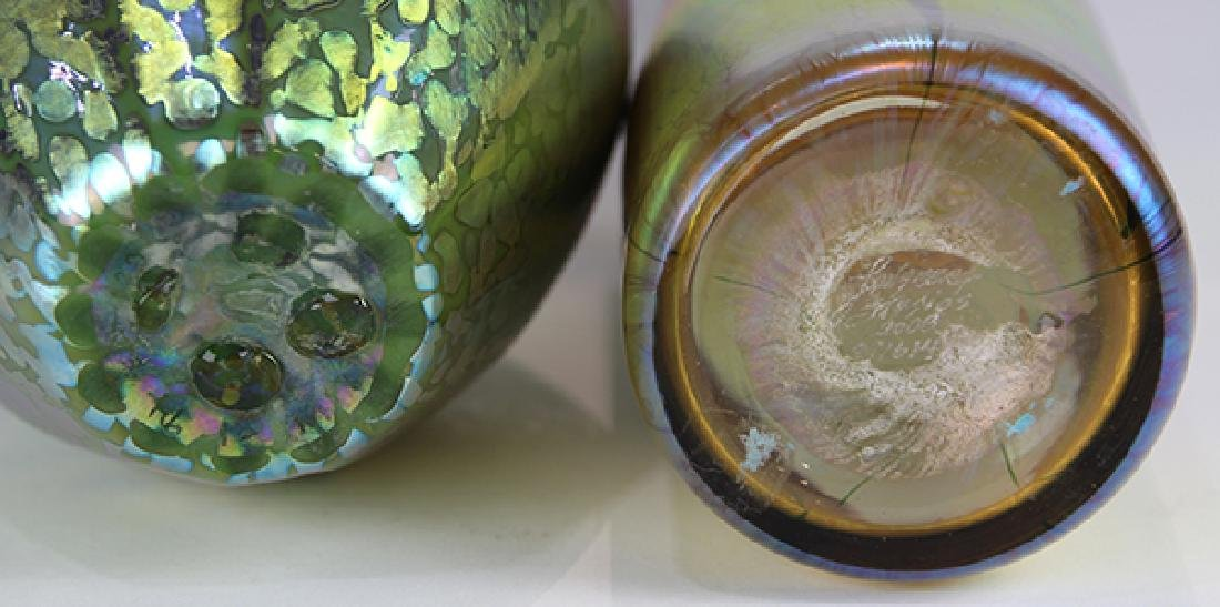 (lot of 5) Lundberg Studios vase group, each having an - 5