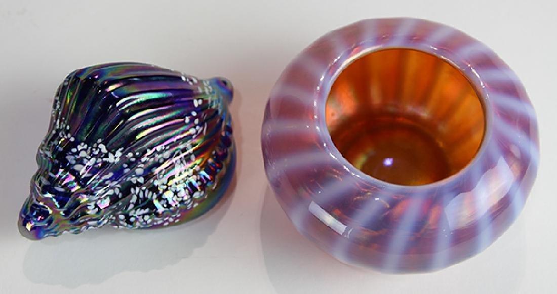 (lot of 5) Lundberg Studios vase group, each having an - 7