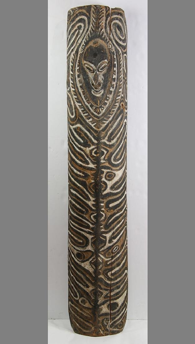Karem River, Papua New Guinea, carved wood shield, the