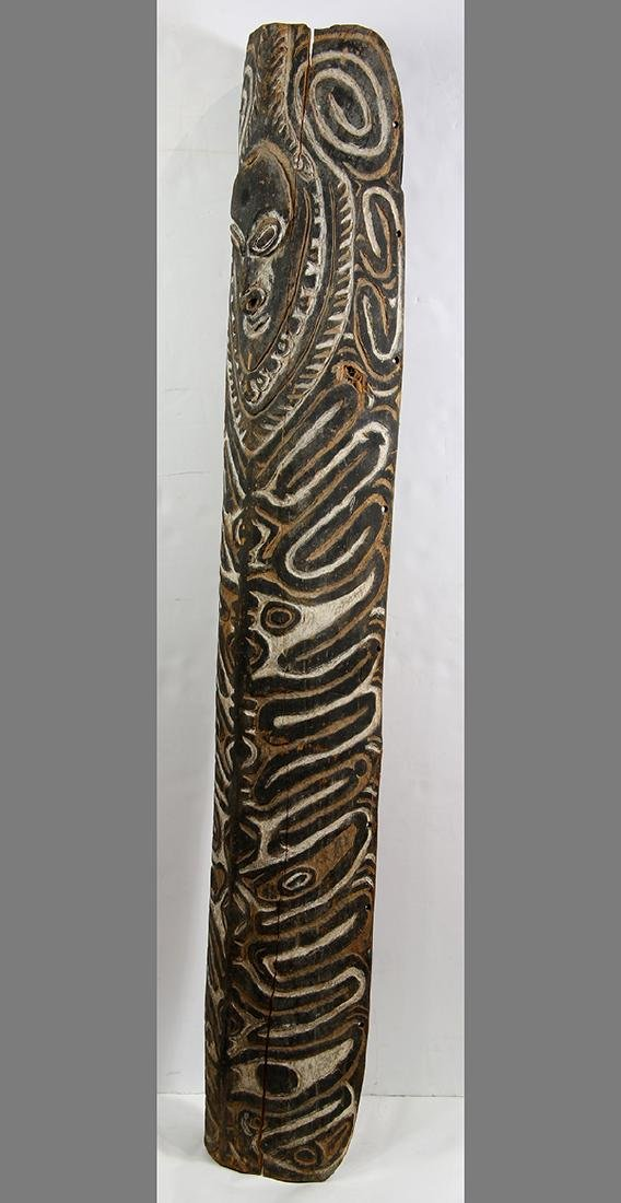 Karem River, Papua New Guinea, carved wood shield, the - 2
