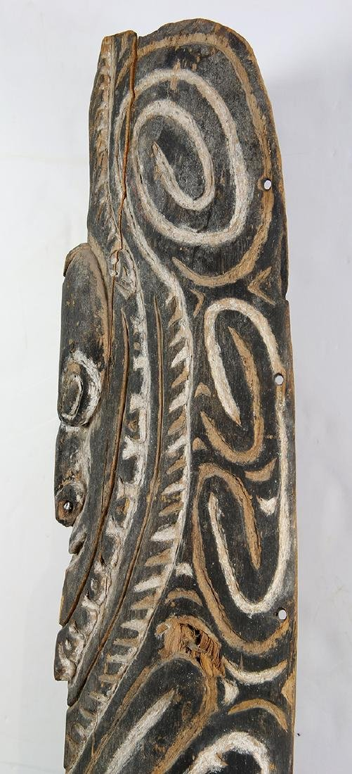Karem River, Papua New Guinea, carved wood shield, the - 3