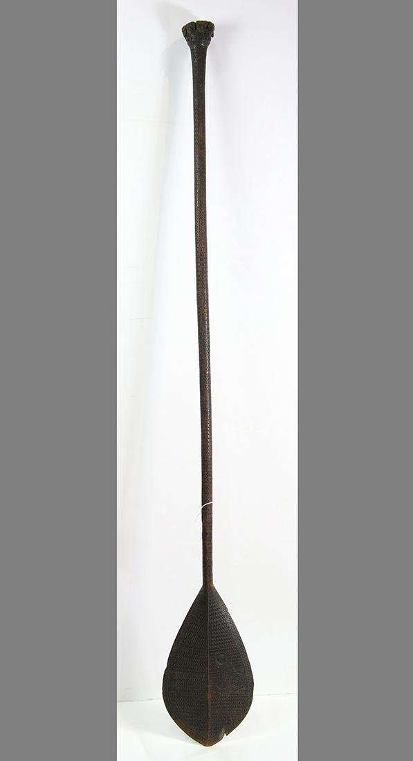 Austral Islands ceremonial paddle, on the longer - 2