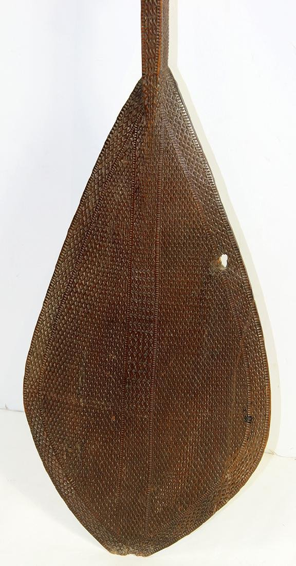 Austral Islands ceremonial paddle, 19th century, - 3