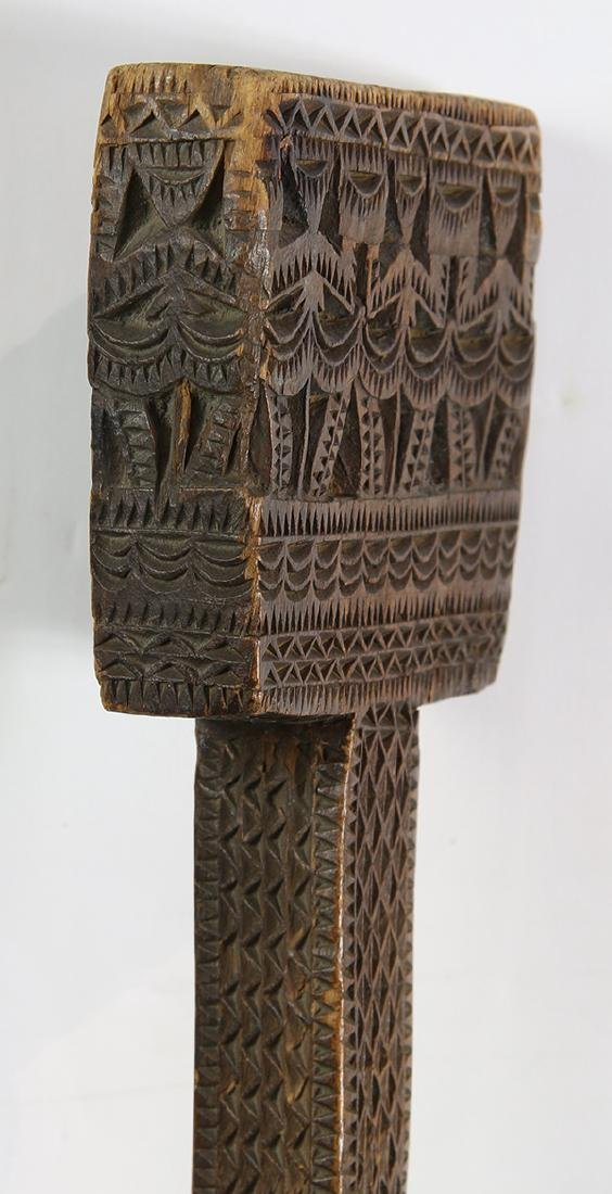 Austral Islands ceremonial paddle, 19th century, - 5