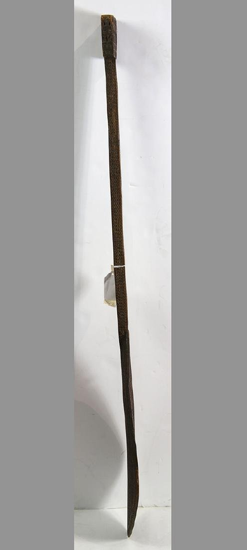 Austral Islands ceremonial paddle, 19th century, - 7