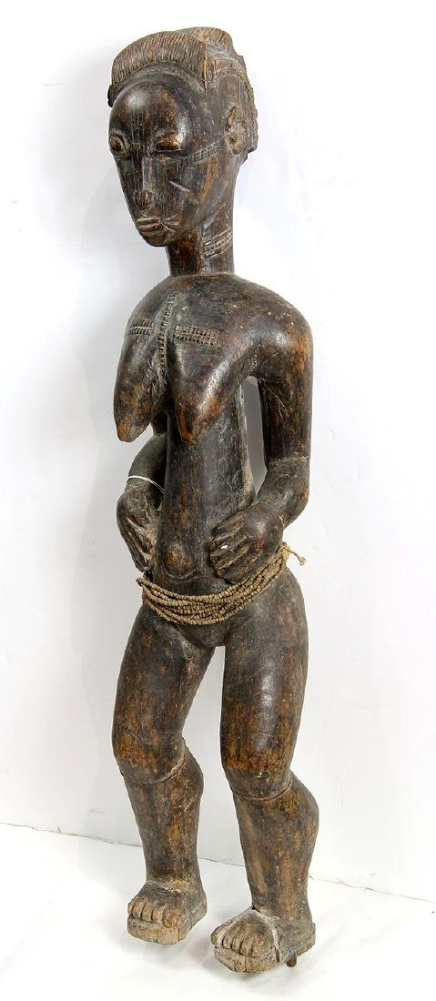Baule, Cote d'Ivoire, female figure, possibly a