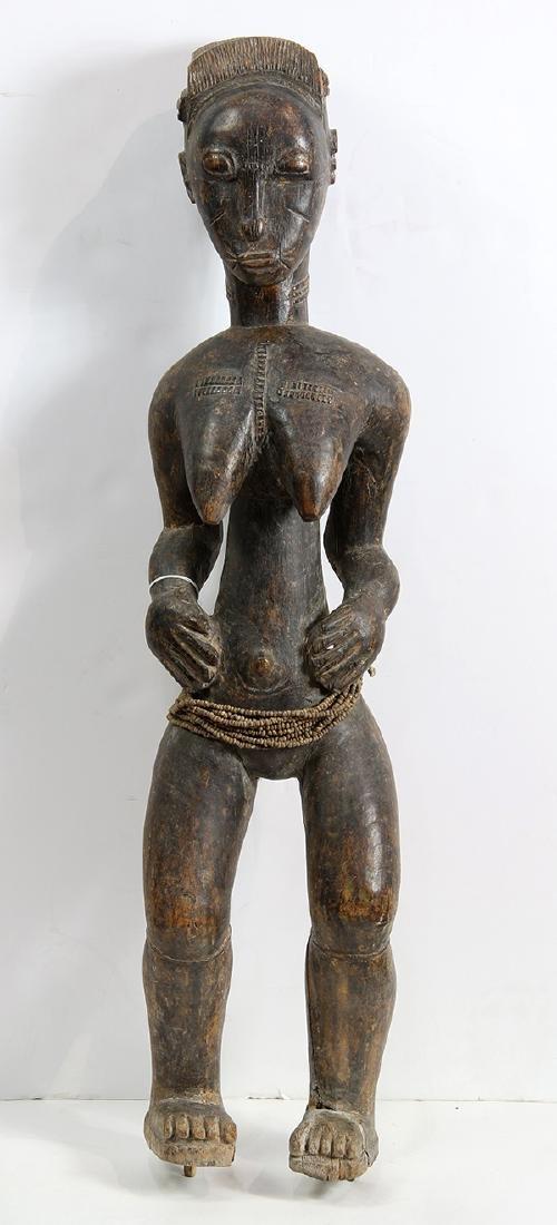 Baule, Cote d'Ivoire, female figure, possibly a - 2