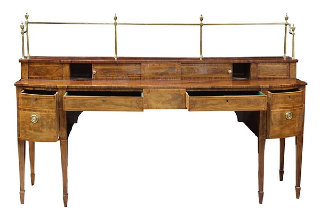 English Sheraton banded mahogany sideboard, early 19th - 2
