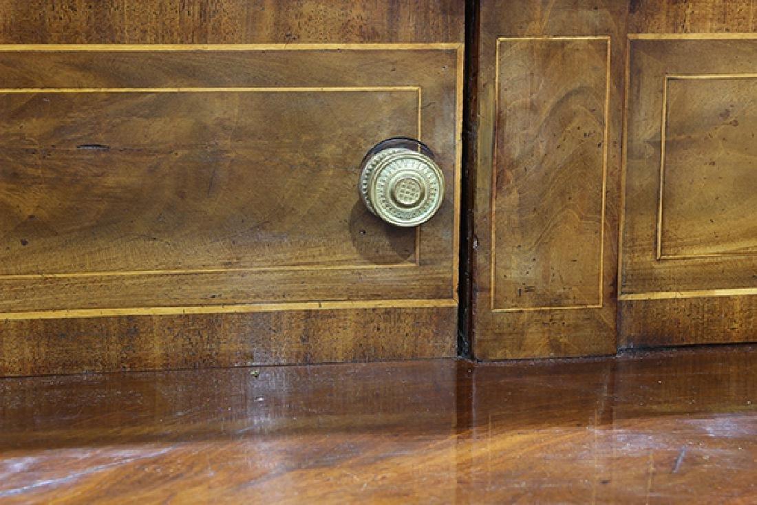 English Sheraton banded mahogany sideboard, early 19th - 7