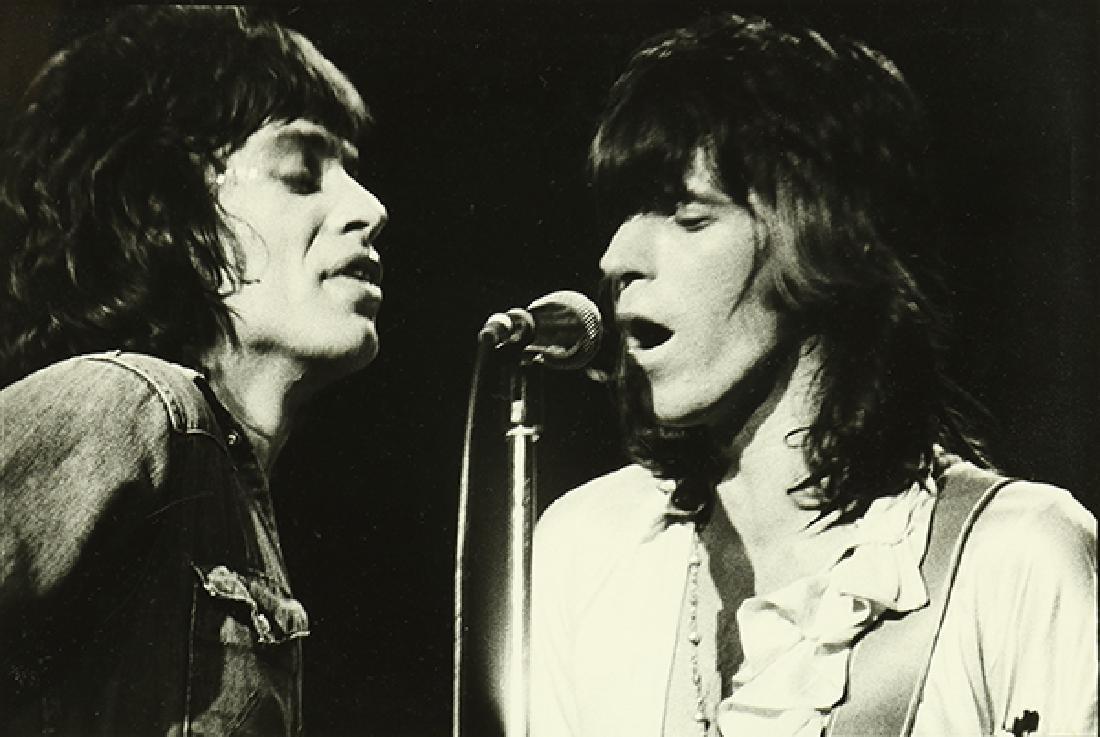 Photograph, Michael Zagaris, Mick Jagger and Keith