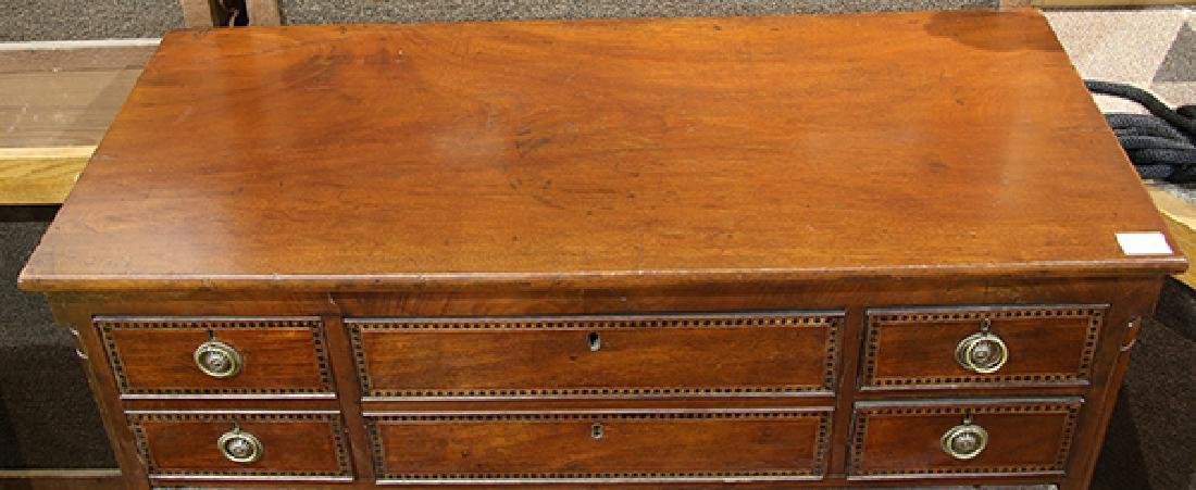 Neoclassical mahogany inlaid chest of drawers, second - 3