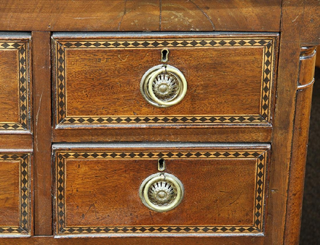 Neoclassical mahogany inlaid chest of drawers, second - 4