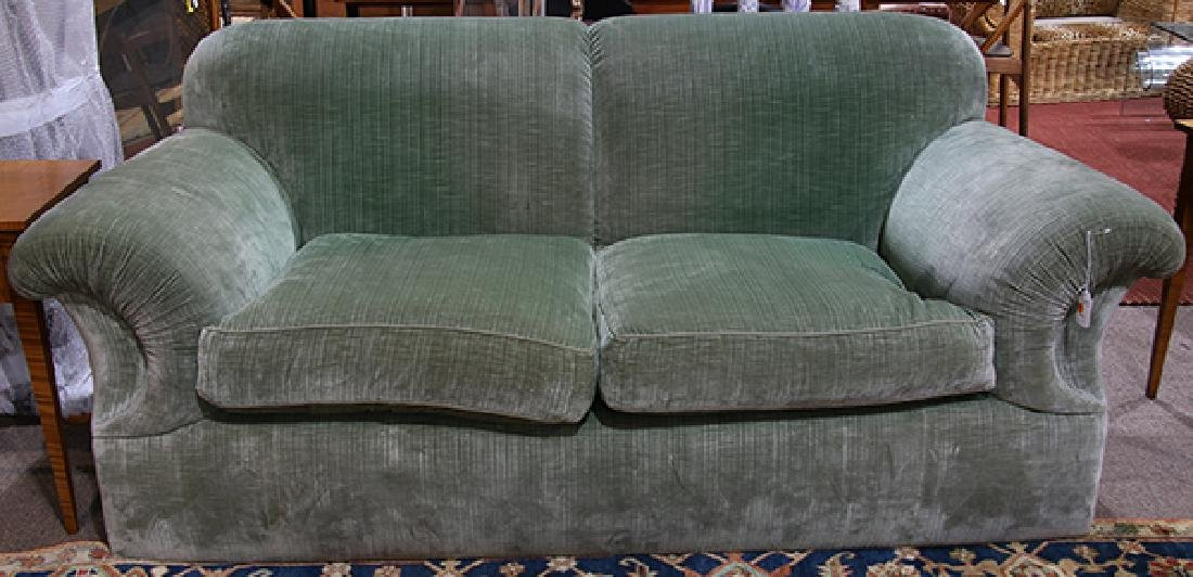 J.J Custom over stuffed custom upholstered sofa