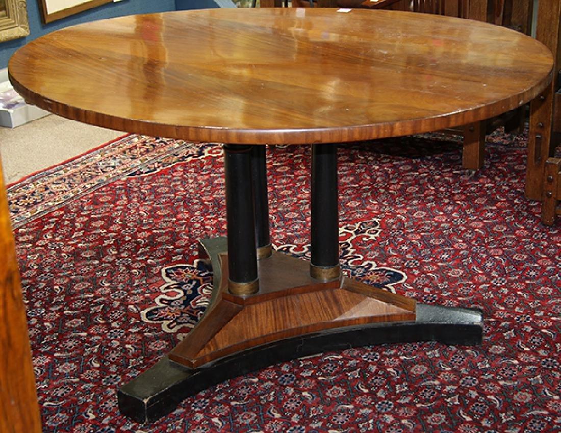 Austrian Biedermeier style mahogany center table
