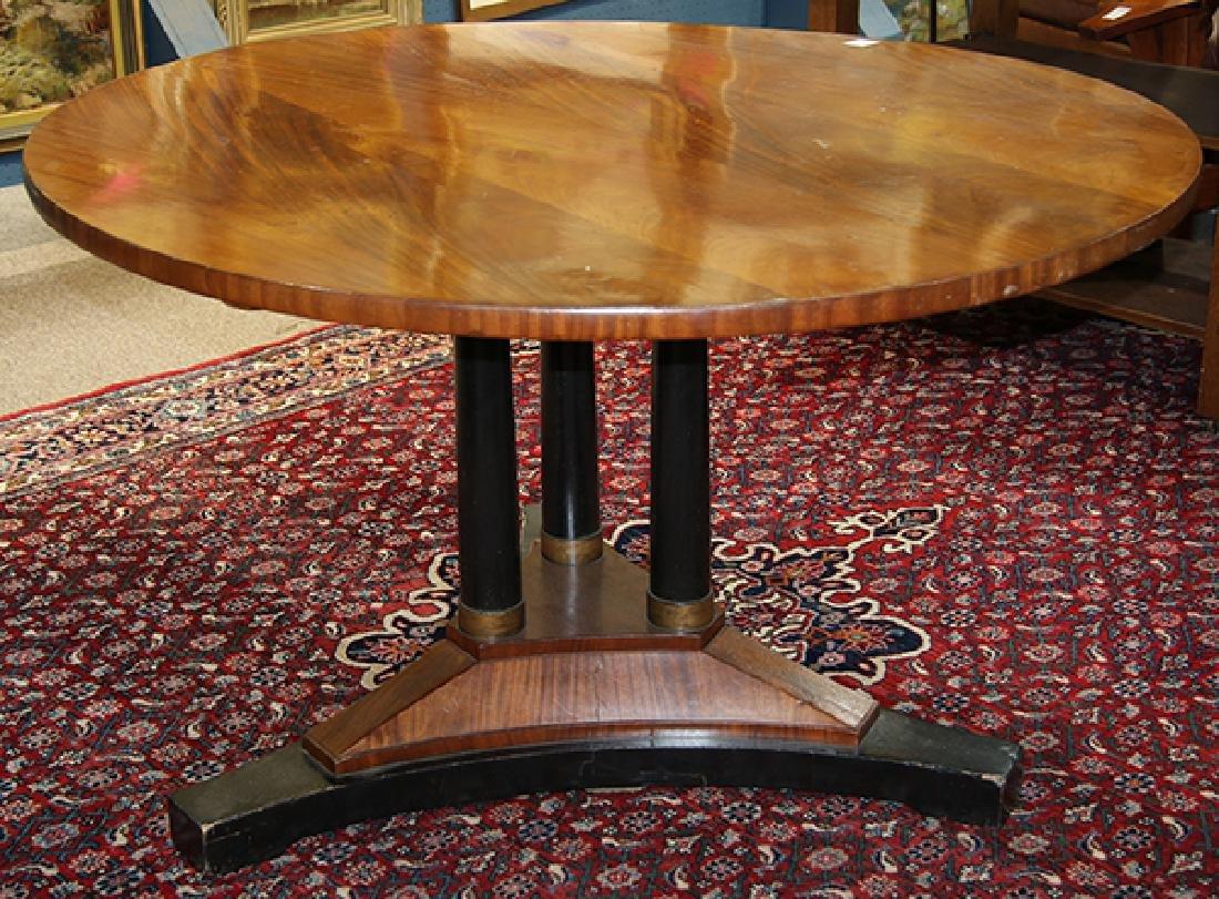 Austrian Biedermeier style mahogany center table - 2