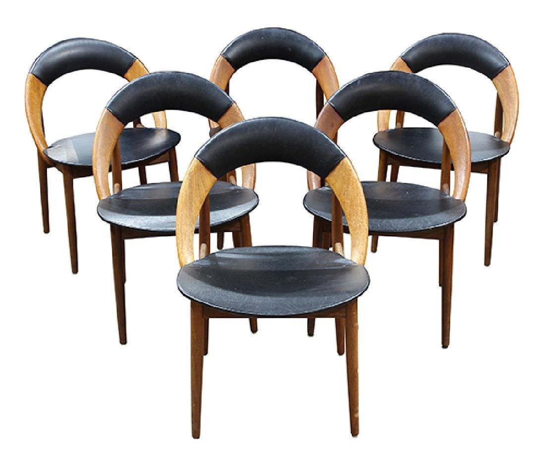 (lot of 6) Danish Modern dining chairs