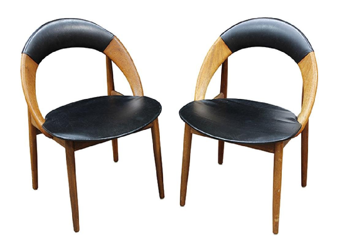 (lot of 6) Danish Modern dining chairs - 2
