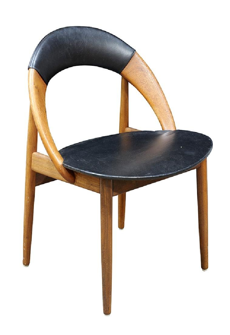 (lot of 6) Danish Modern dining chairs - 3