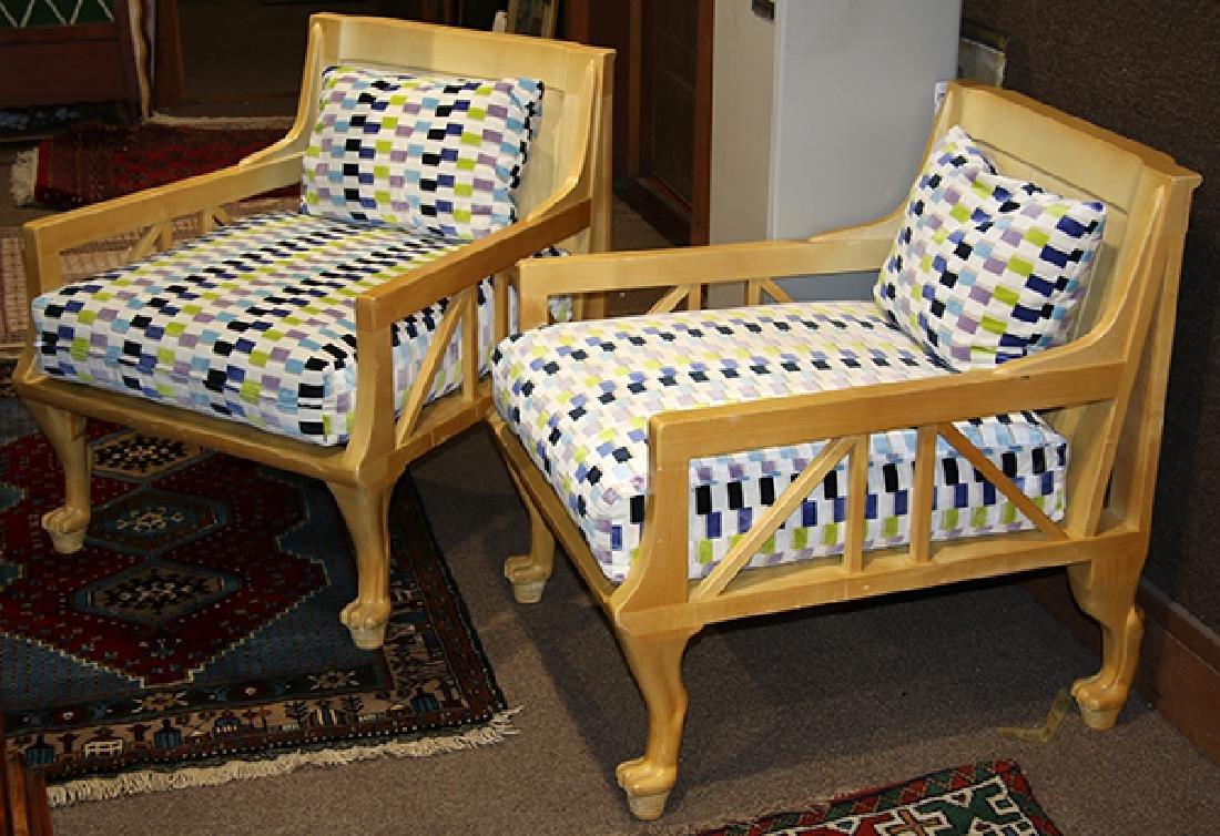 Pair of John Hutton style lounge chairs