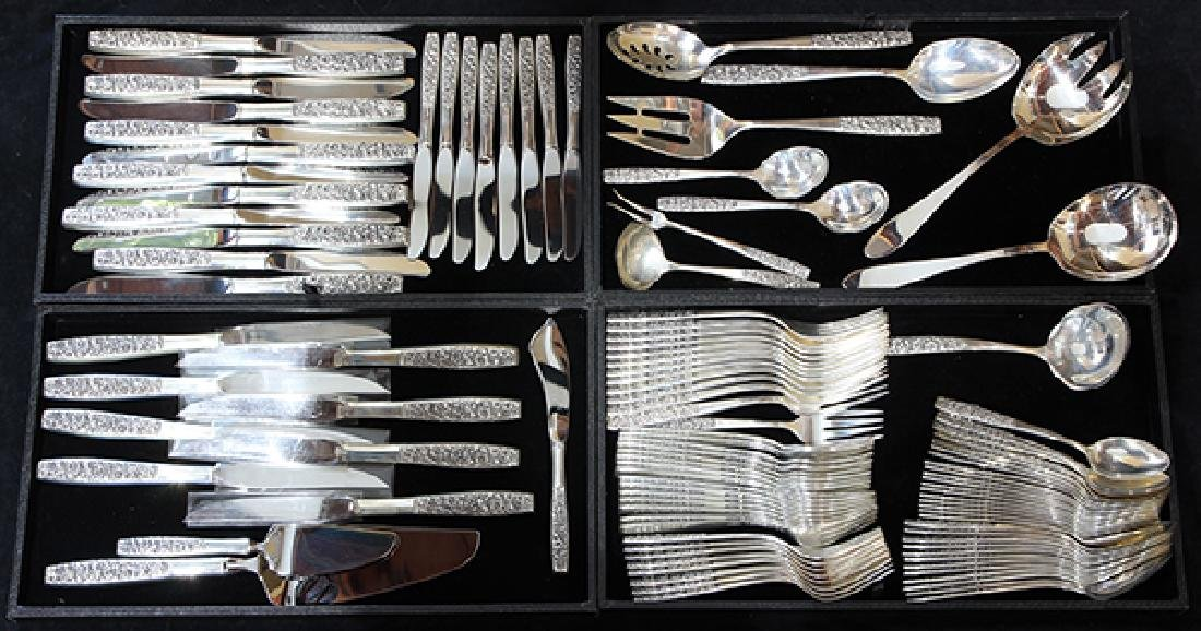 (lot of 108) Towle sterling silver flatware service for
