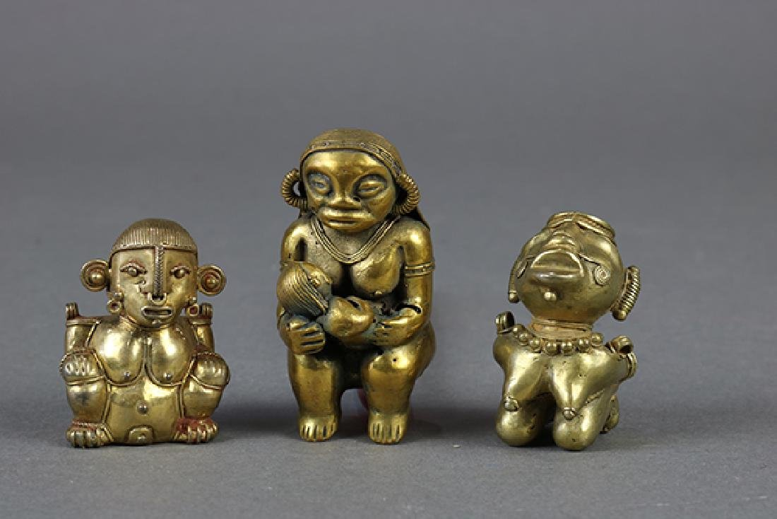 (Lot of 3) Figural groups, possibly Pre-Columbian,