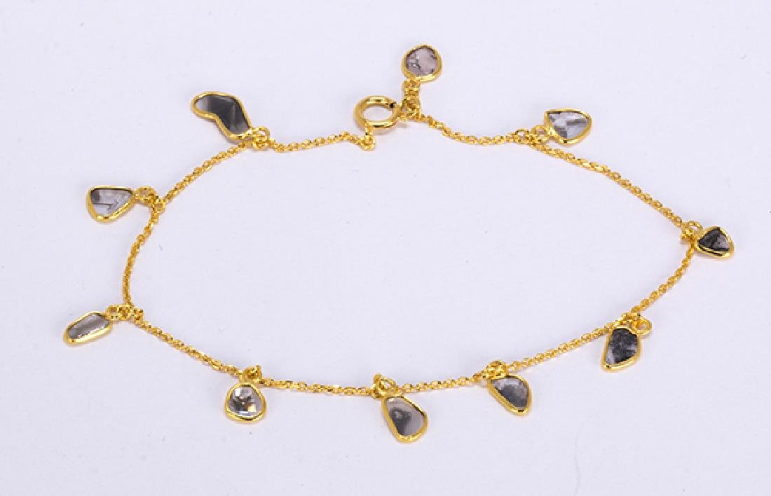 Diamond and 18k yellow gold bracelet