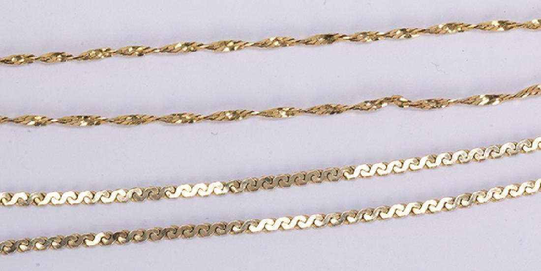 (Lot of 2) 14k yellow gold necklaces - 3