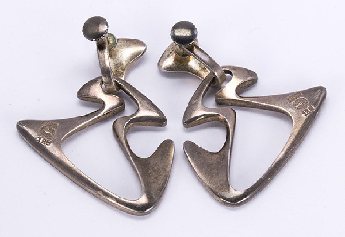 Georg Jensen Henning Koppel sterling silver earrings - 3