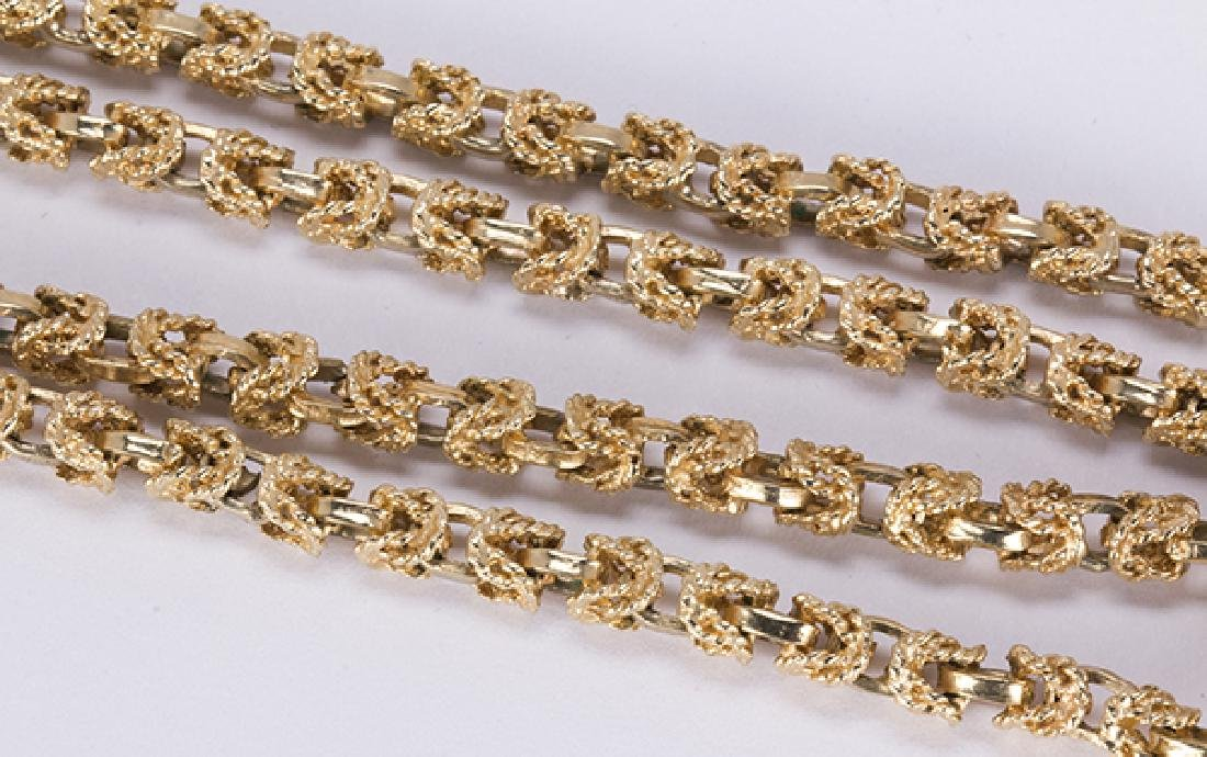Cultured pearl, diamond and yellow gold - 4