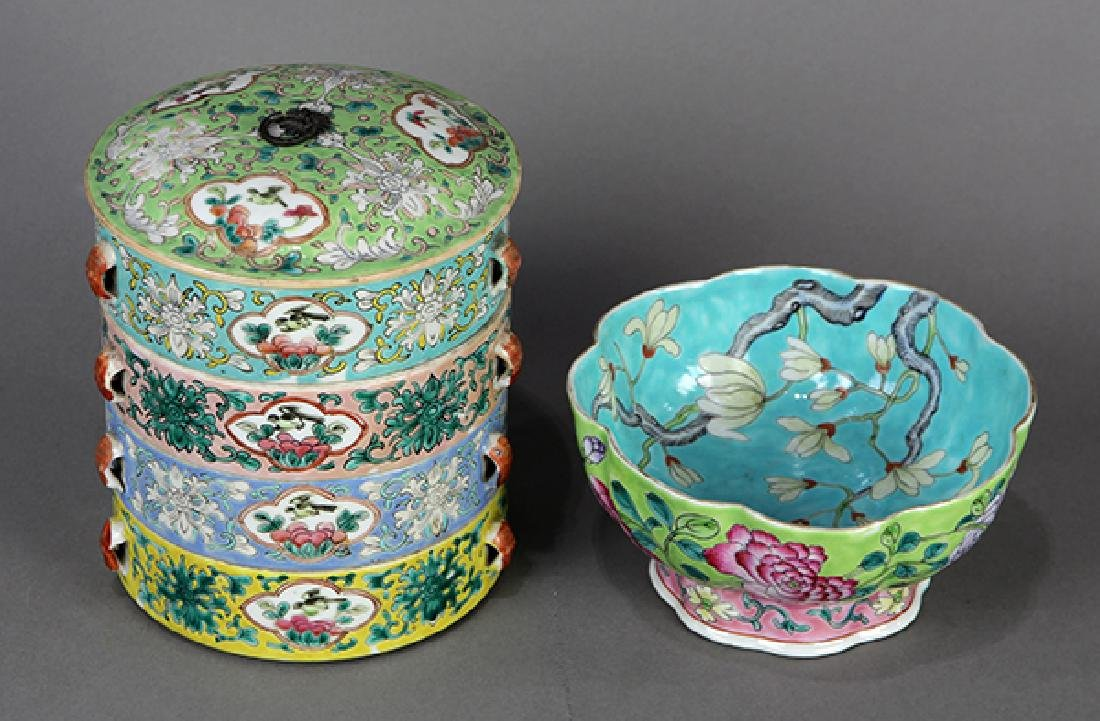 Chinese Porcelain Box and Bowl