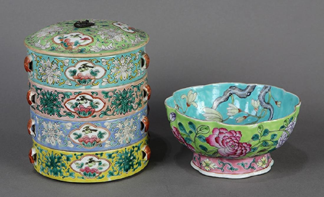 Chinese Porcelain Box and Bowl - 2