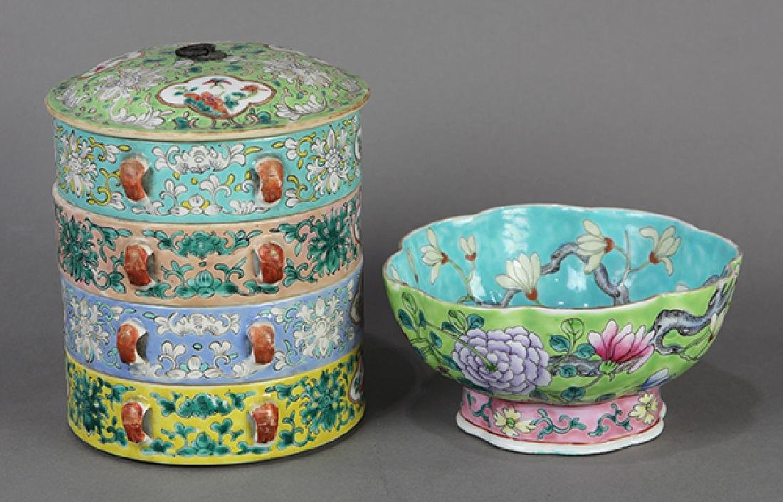Chinese Porcelain Box and Bowl - 3
